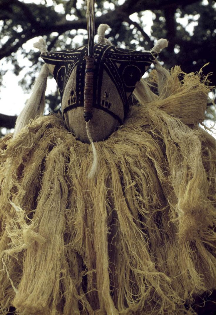 Africa | Masked performer at Tiebleke dance. Bin village, Mali. 1959. | ©Eliot Elisofon.