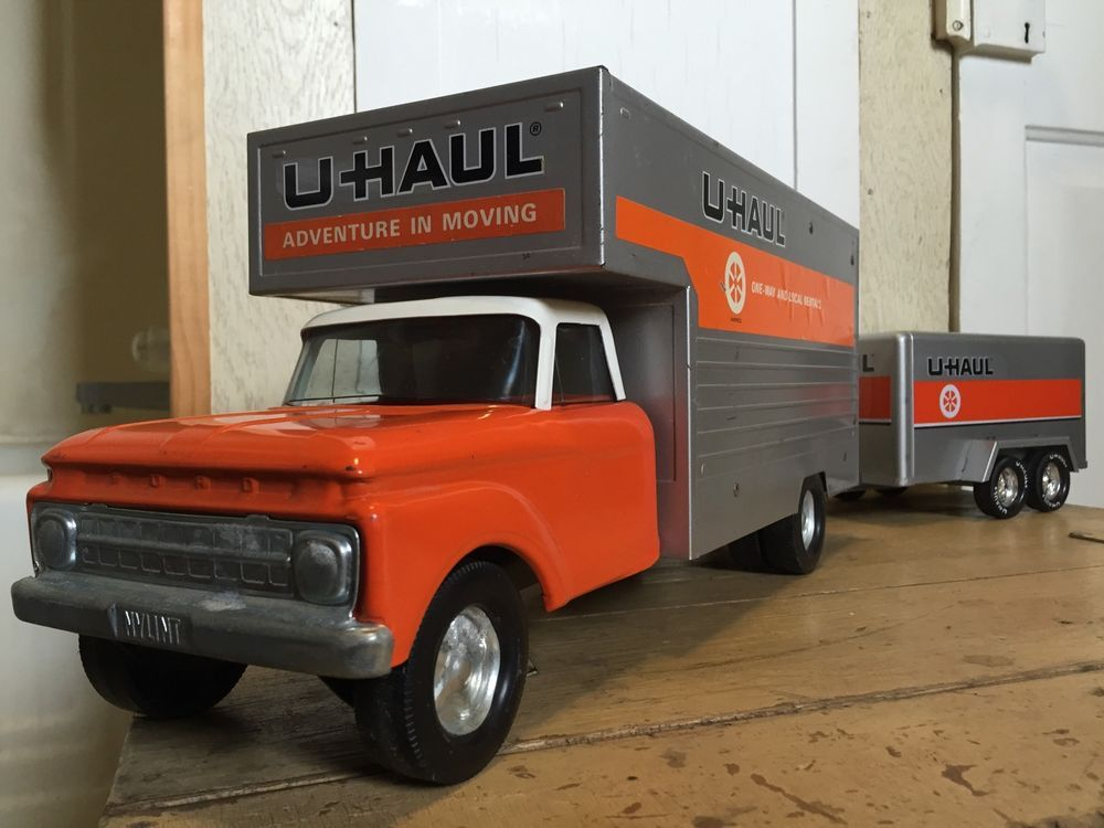 Vintage 1970 S Nylint U Haul Maxi Mover Toy Truck And Dual Axle