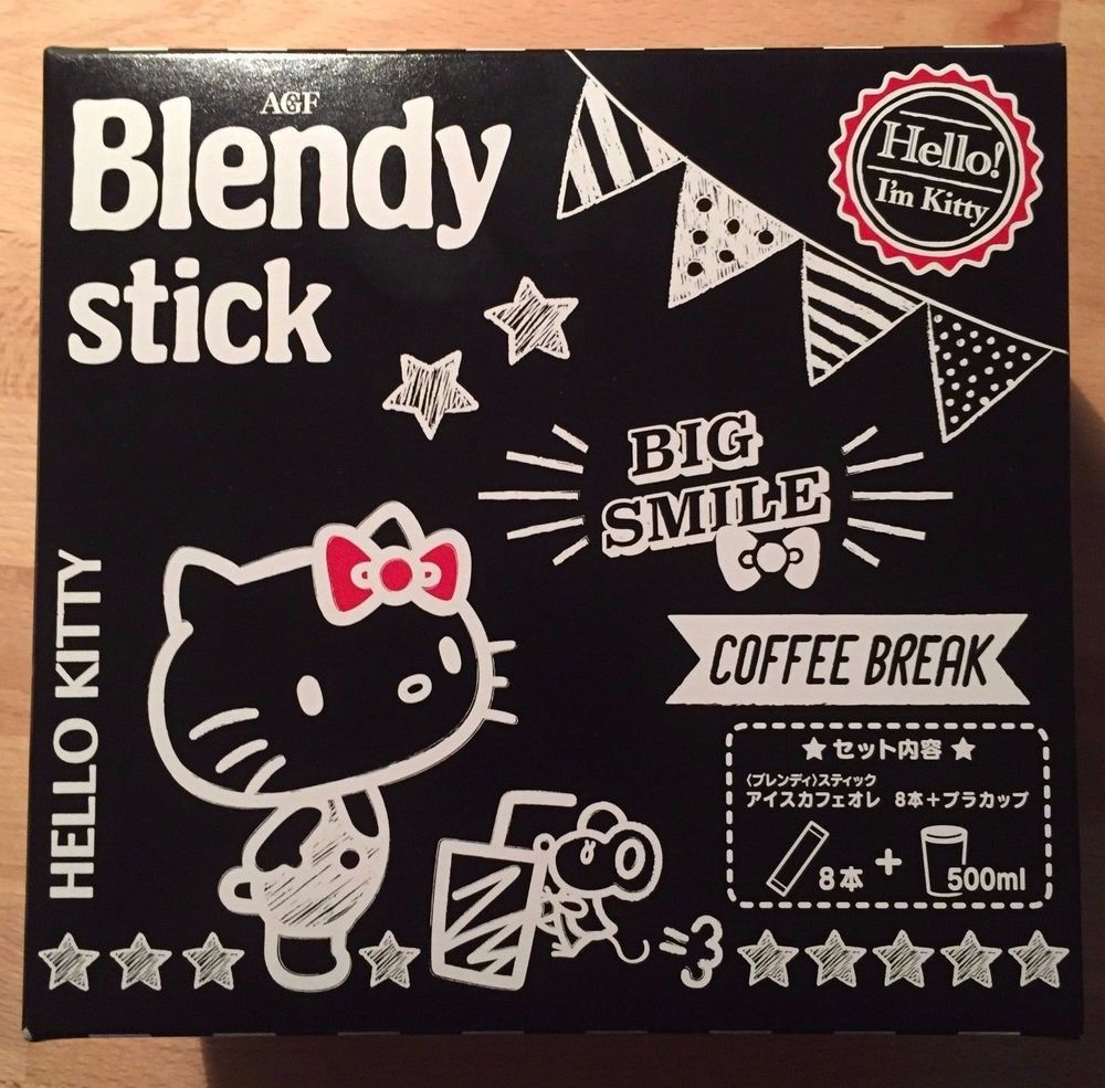 Hello Kitty, AGF Blendy Stick Cafe Au Lait with Kitty Cup