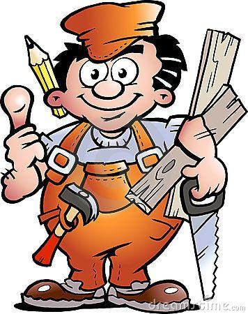 carpenter handyman by poul carlsen via dreamstime handyman logos rh pinterest com handyman clip art free download handyman clip art free images