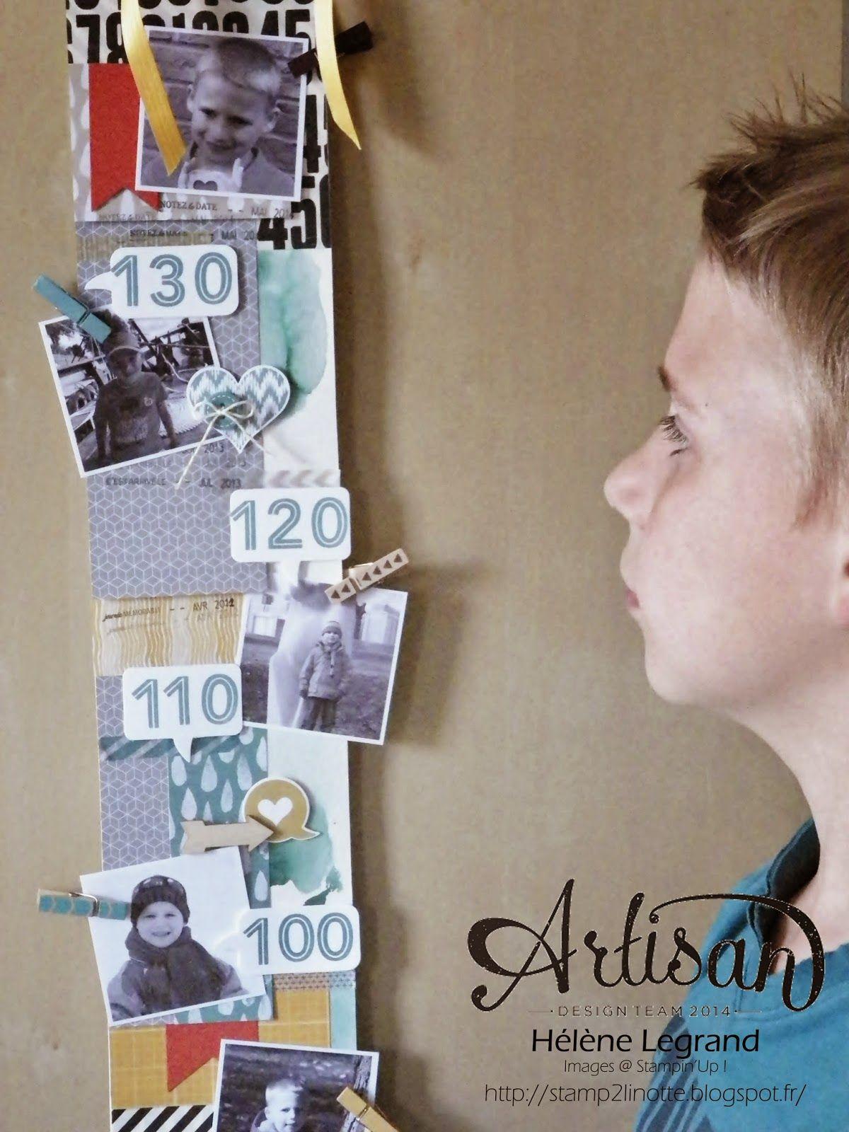 Height ruler babies - Stampin'up  ! - Hélène LEGRAND - Stamp 2 LiNotte