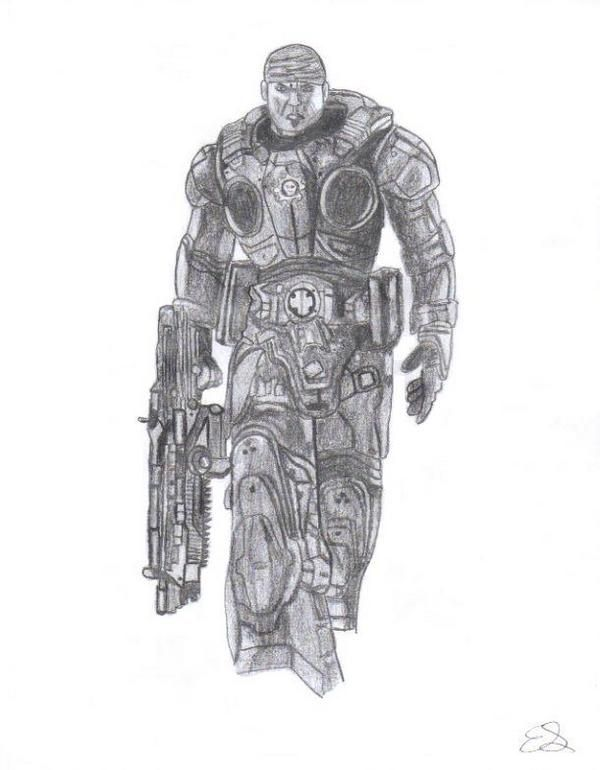 Marcus Fenix from Gears of War | My Art | Pinterest