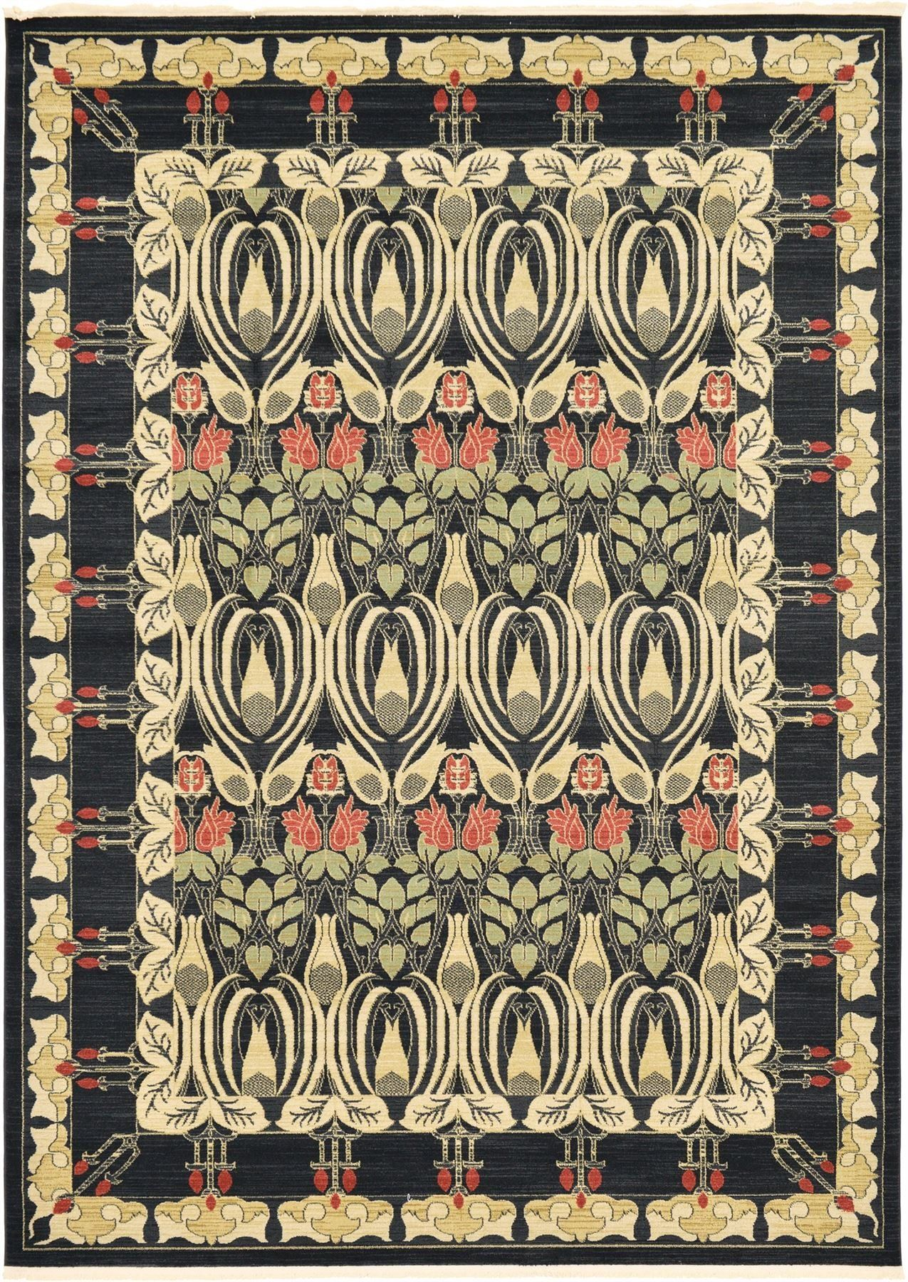 Traditional oriental country rugs black u x u uu ft cm x