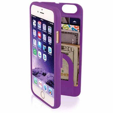 eyn Protective Case with Storage for Apple iPhone 6, Purple