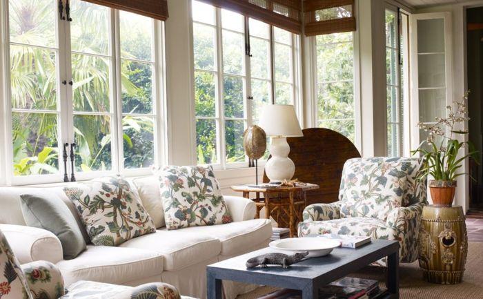 Gestaltung wohnzimmer ~ Wohnzimmer im landhausstil gestalten haus design ideen living