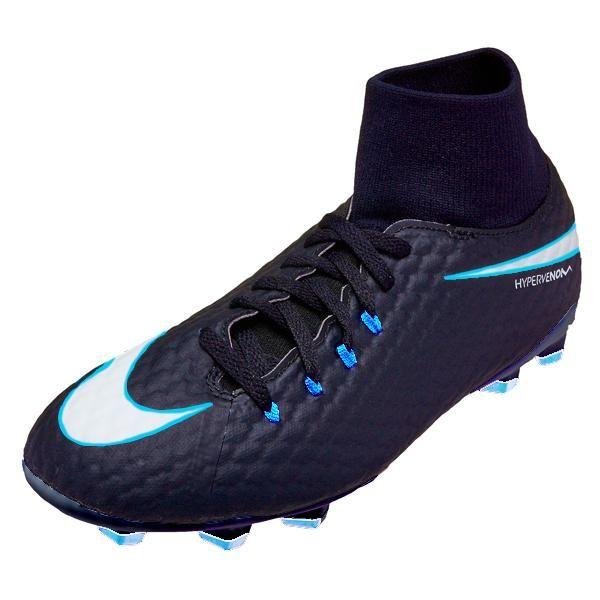 bc9ba1f2d3a Nike Hypervenom Phelon III DF FG Mens Soccer Cleats (Obsidian Ice ...