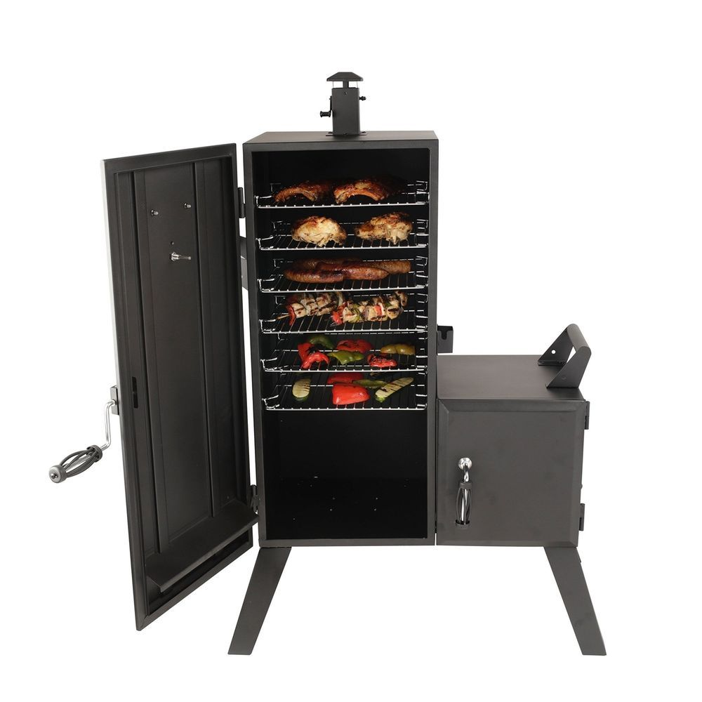 Vertical Offset Smoker Dyna Glo Charcoal Wood Chips Bbq Cooker Grease Management Supersaversfromsteve Best Offset Smoker Charcoal Smoker Offset Smoker