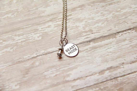 Barbell Beast Mode Charm Fitness Weight by BeastModeJewelry