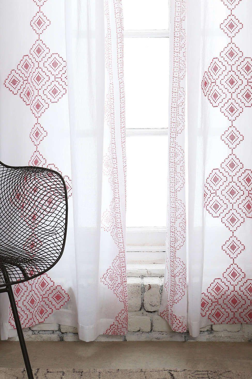 Magical thinking embroidered diamond curtain windows pinterest