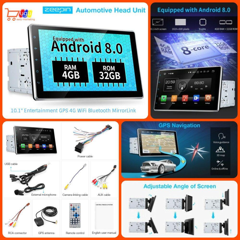 ZEEPIN WiFi Automotive Head Unit Car Multimedia Player HD 10 1