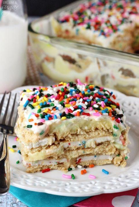 No Bake Golden Birthday Cake Oreo Cheesecake Birthday cake oreos