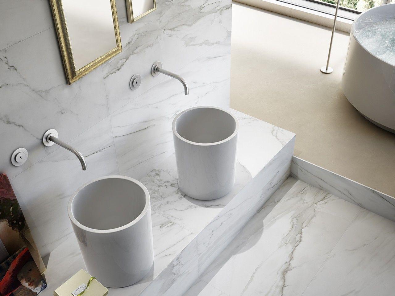 Gres porcellanato lappato effetto marmo serie luni formato 60x60