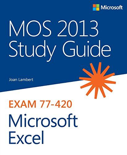 Mos 2013 Study Guide For Microsoft Excel Mos Study Guide Paperback In 2020 Study Guide Microsoft Word Free Microsoft Excel
