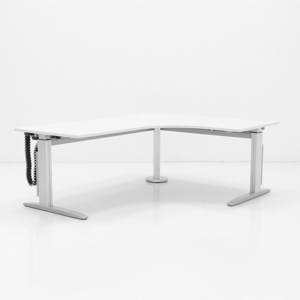 Hohenverstellbarer Schreibtisch Imperia Vf Mit Eckplatten Haus Deko Schreibtisch Tisch