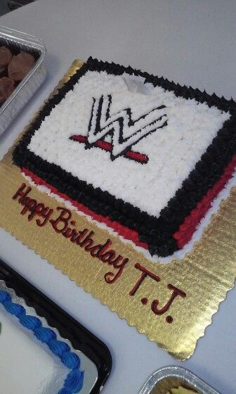 WWE birthday cake WWE Nation Pinterest Wwe birthday cakes, Wwe - copy coloring pages wwe belts