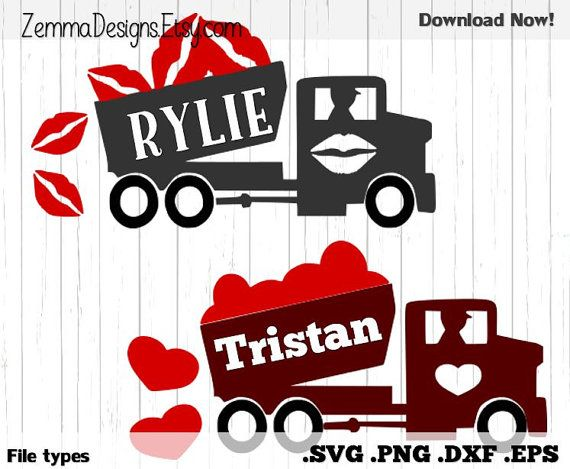 Valentine Svg Truck Svg File Types Dxf Svg By Zemmadesigns Svg
