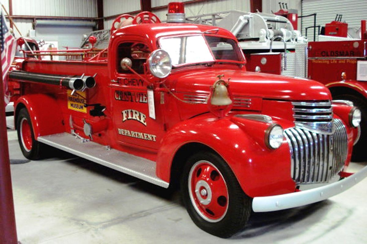 1941 Chevy Pirsch Pumper Largo Florida Vintage