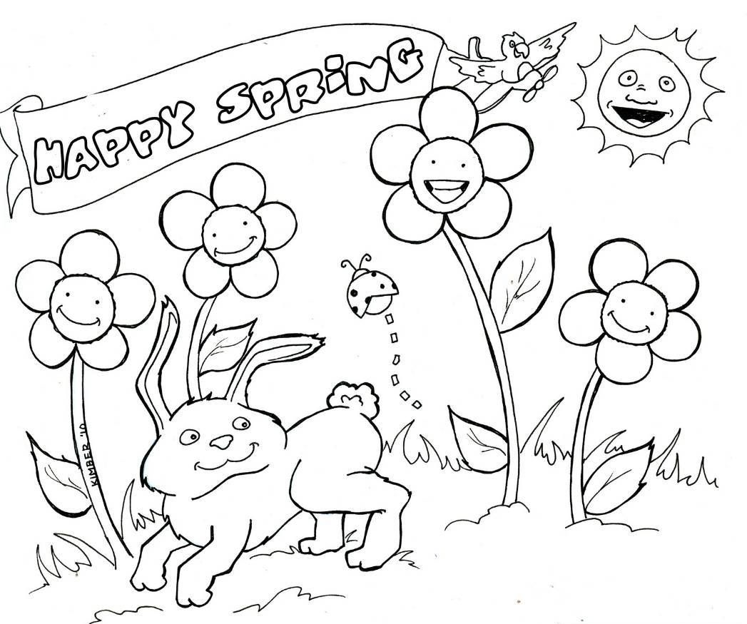 spring coloring pages, printable spring coloring pages