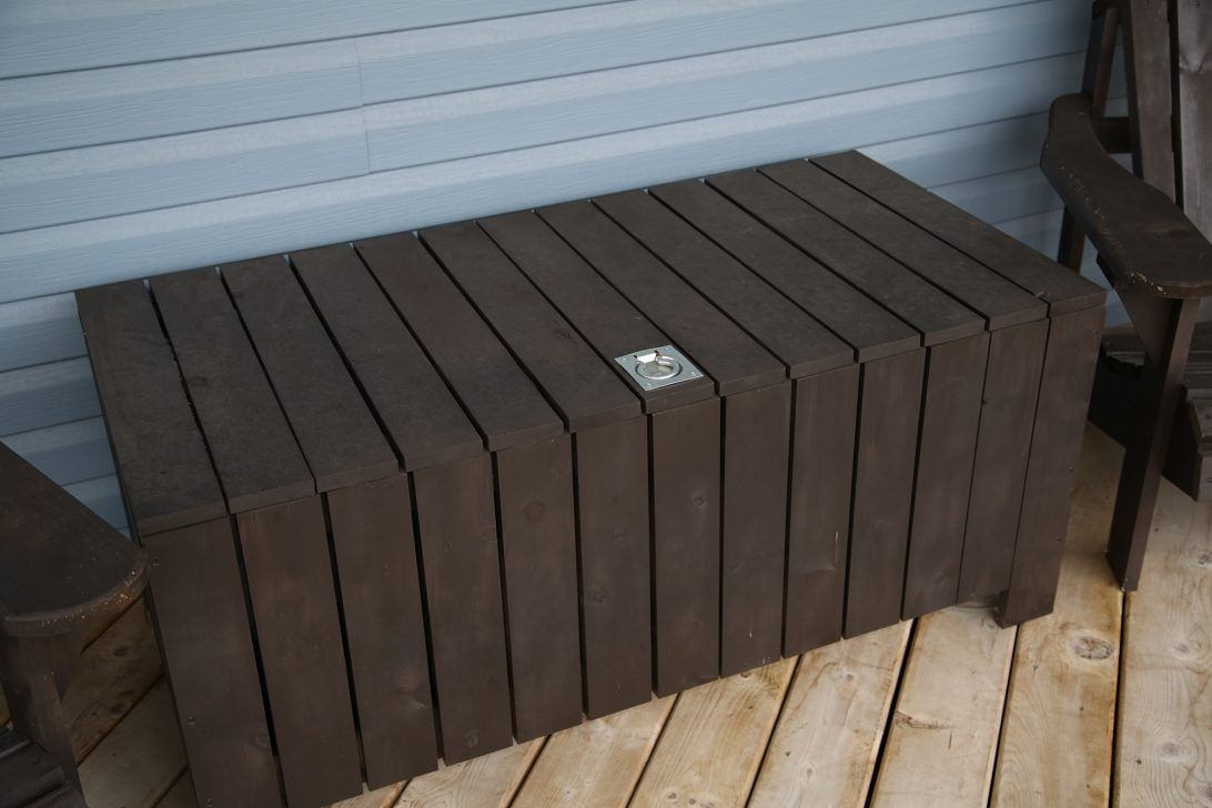 Keter Glenwood 50 4 In L X 25 6 In Espresso Brown Deck Box Lowes
