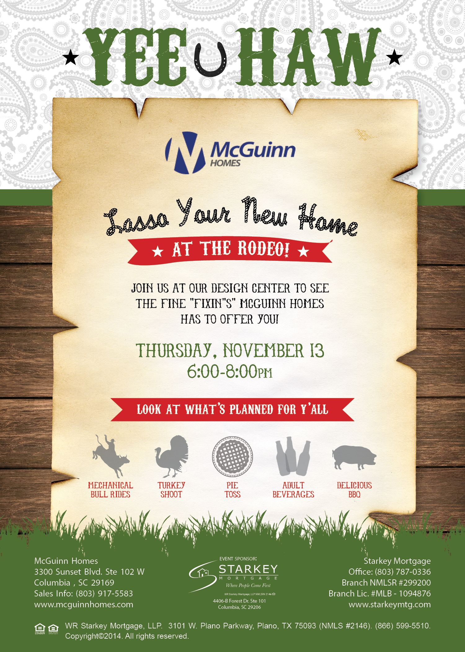 rodeo flyer; builder flyer; Lasso Your New Home; McGuinn ...