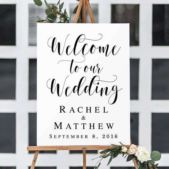 Wedding Welcome Sign Greenery wedding Editable template Editable sign custom sign Printable sign Wedding decoration Reception sign