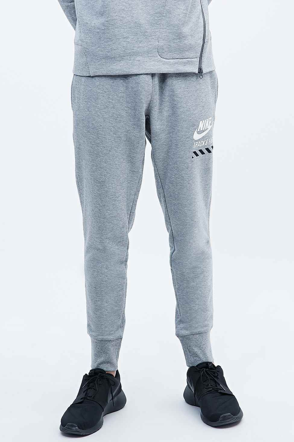 Nike Track and Field Cuff Joggers in Grey - Urban Outfitters