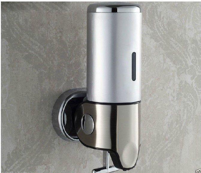 Modern Bathroom 500ml Stainless Steel Wall Mounted Liquid Shampoo Soap Dispense Loostarwater Saboneteira Utensilios Para Casa