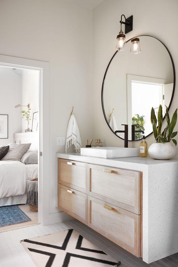 modern bathroom, clean bathroom, simple bathroom design, master ...