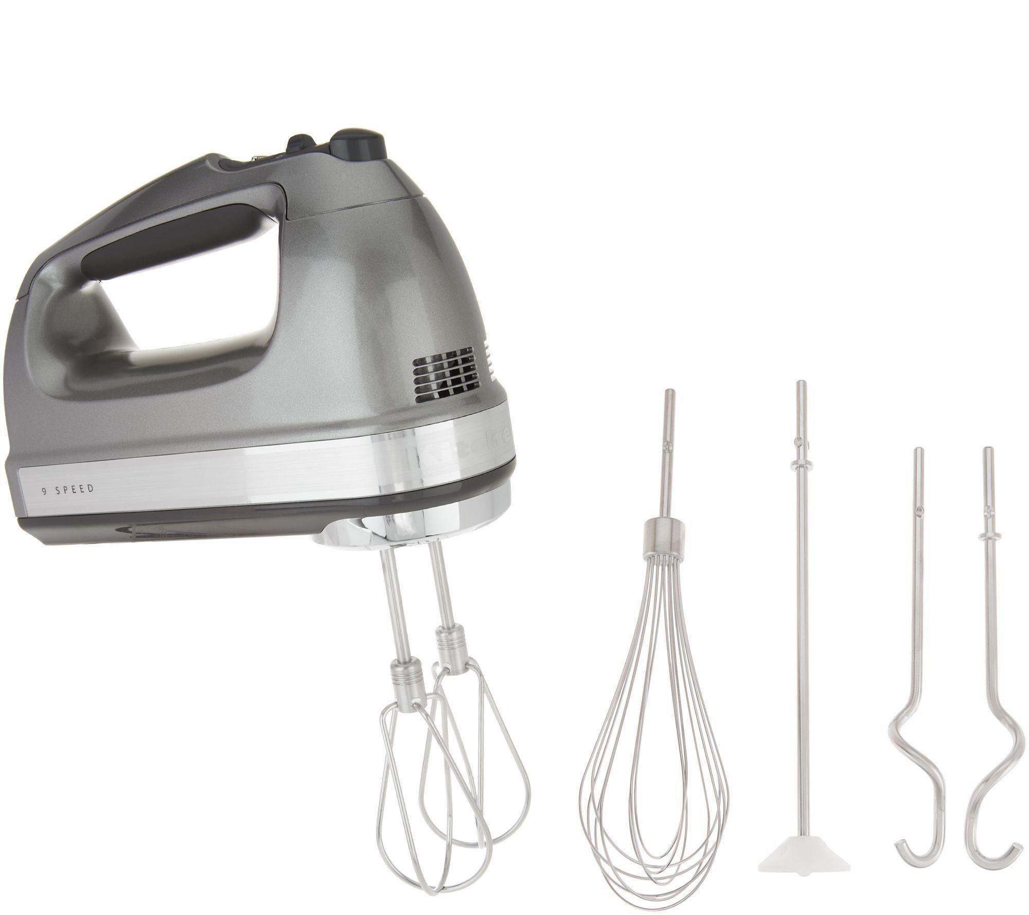 Kitchenaid 9speed digital hand mixer w wire whisk