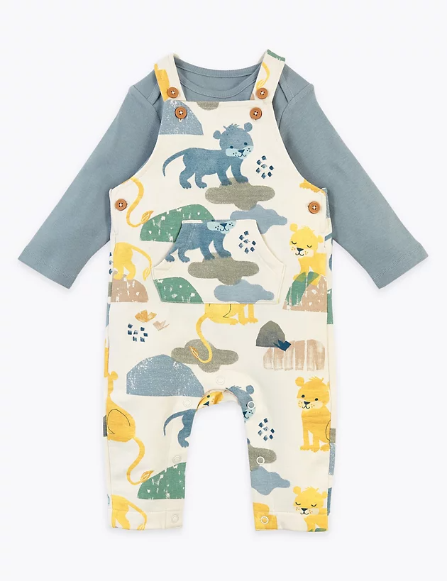Tu 2-Piece Baby Boys WINNIE THE POOH Cotton Dungaree Set 0-3 Months NEW