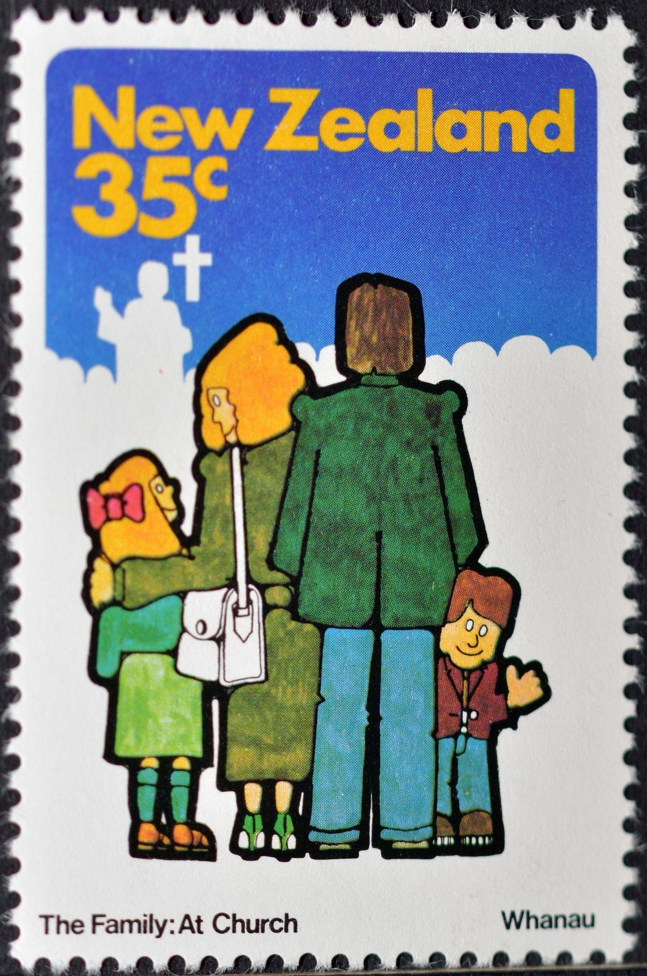 New Zealand (904) 1981 Family Life - The Family at Church