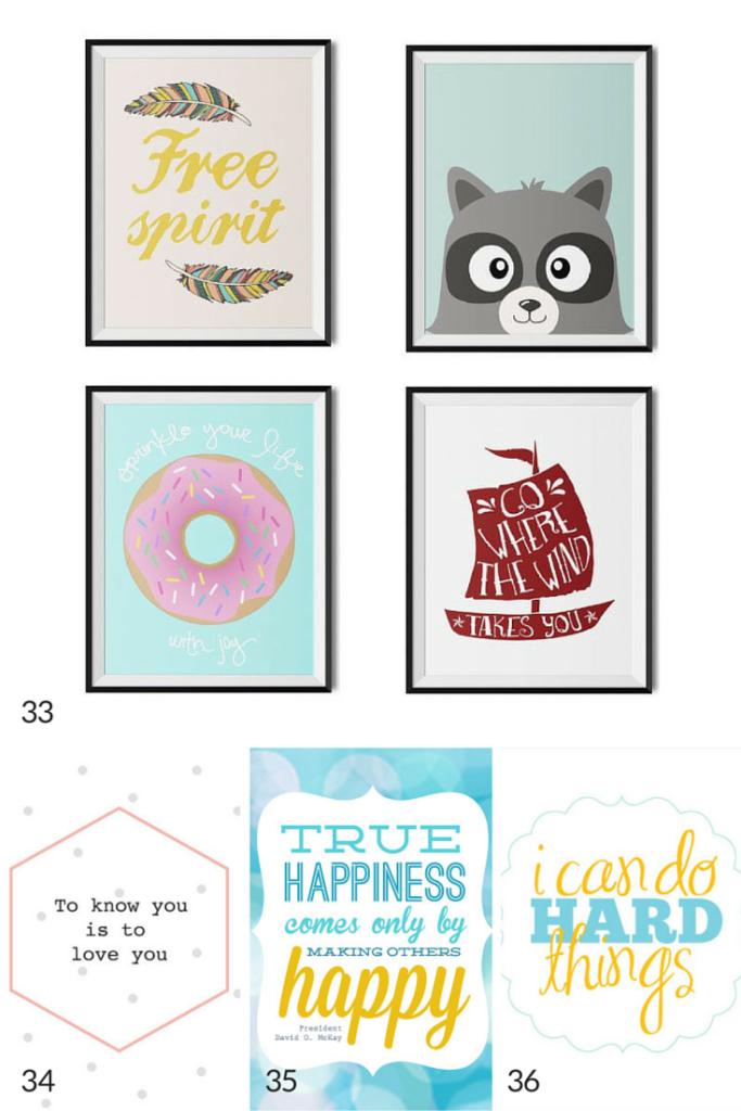 Free prints for kids ideas