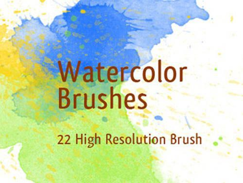 30 Sets Of Watercolor Free Brushes For Photoshop Photoshop