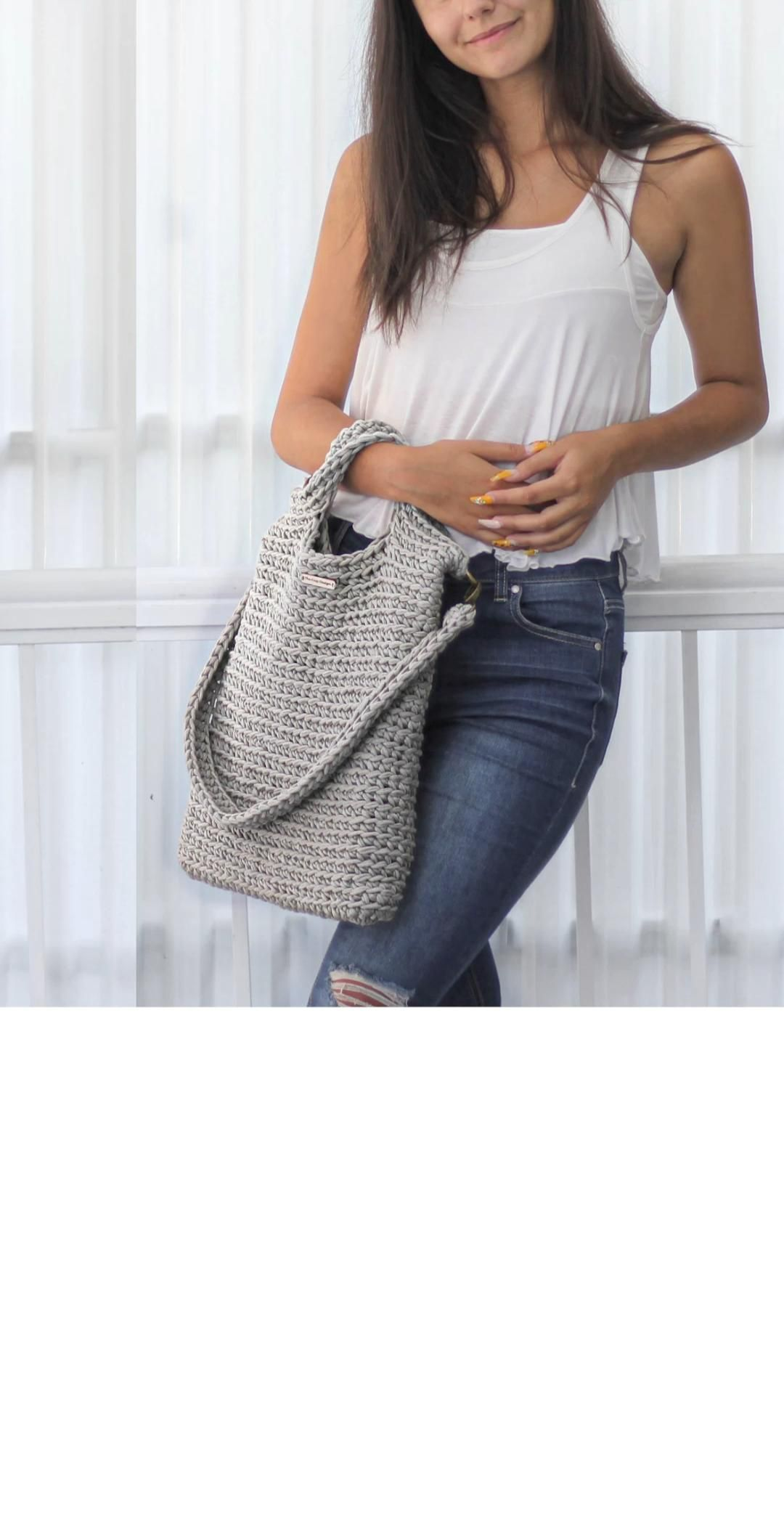LIMA - Crochet Convertible BAG pattern - pdf - instant download - TheEasyDesign