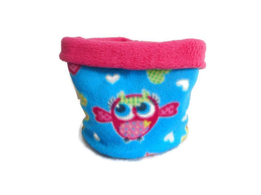 e77a3c46884 Snood Hiver Fille Tour de Cou Fille Polaire Echarpe Tube Enfant Cache-Nez  Chouettes Rose