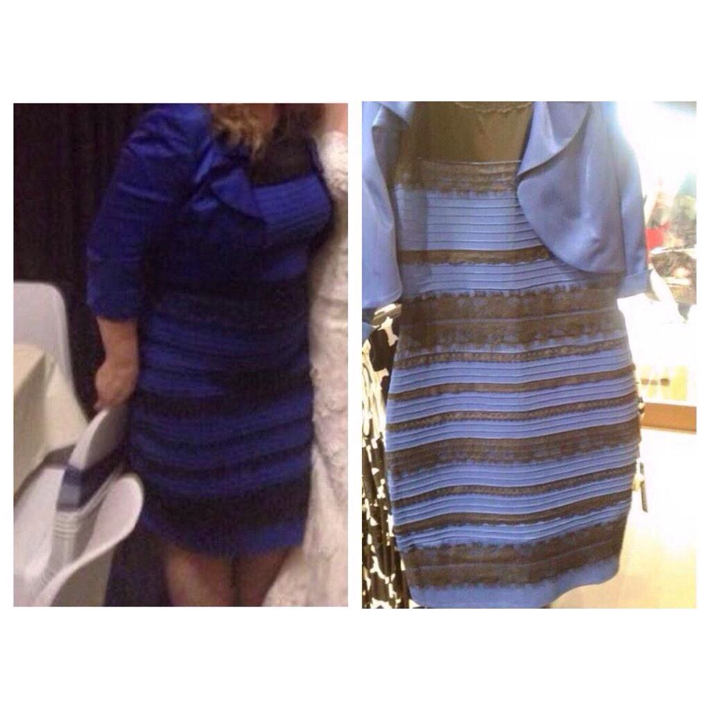 The dress is white - Black Blue White Gold Dress Amazon
