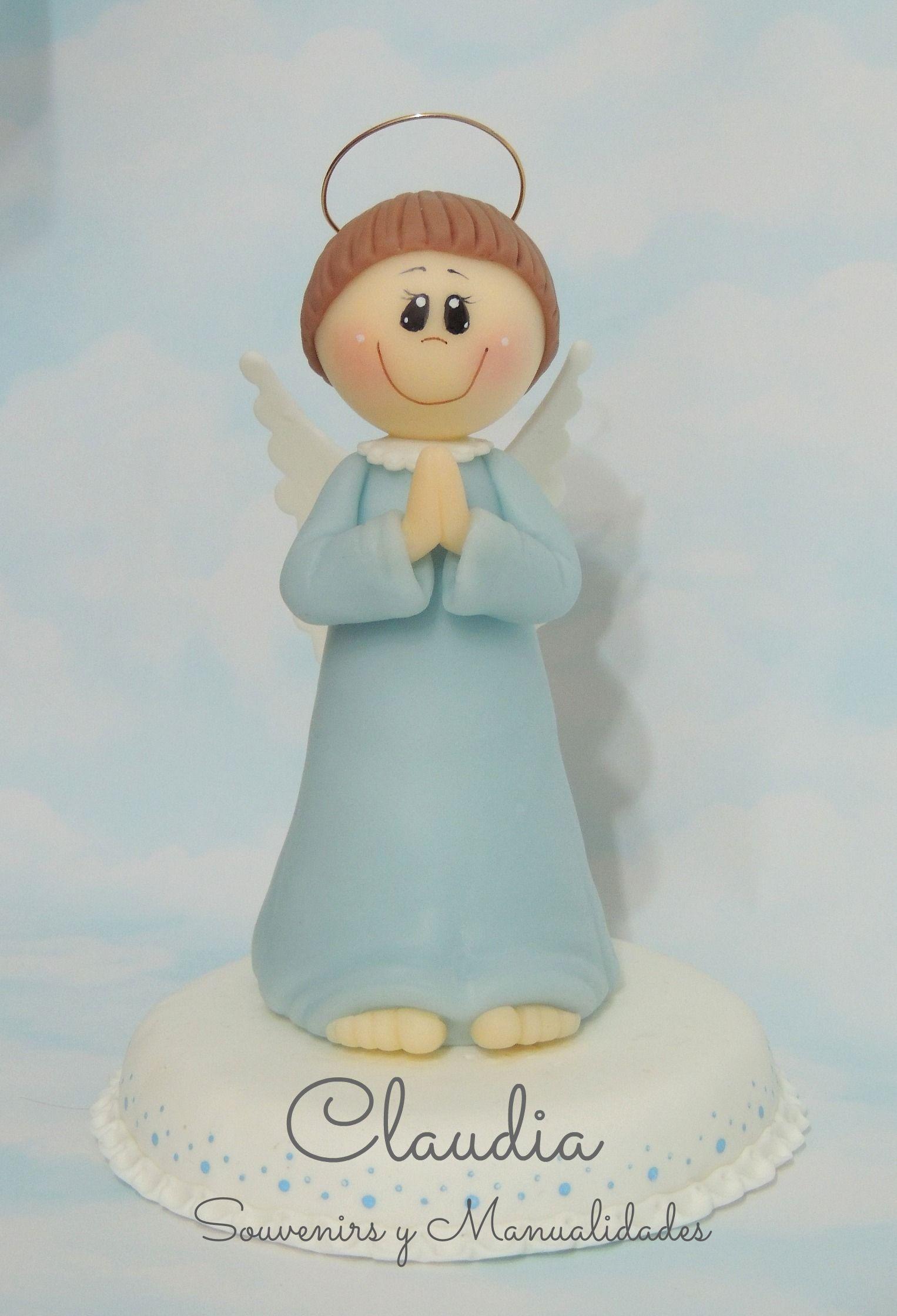 Adorno de torta: Angel para comunión .-