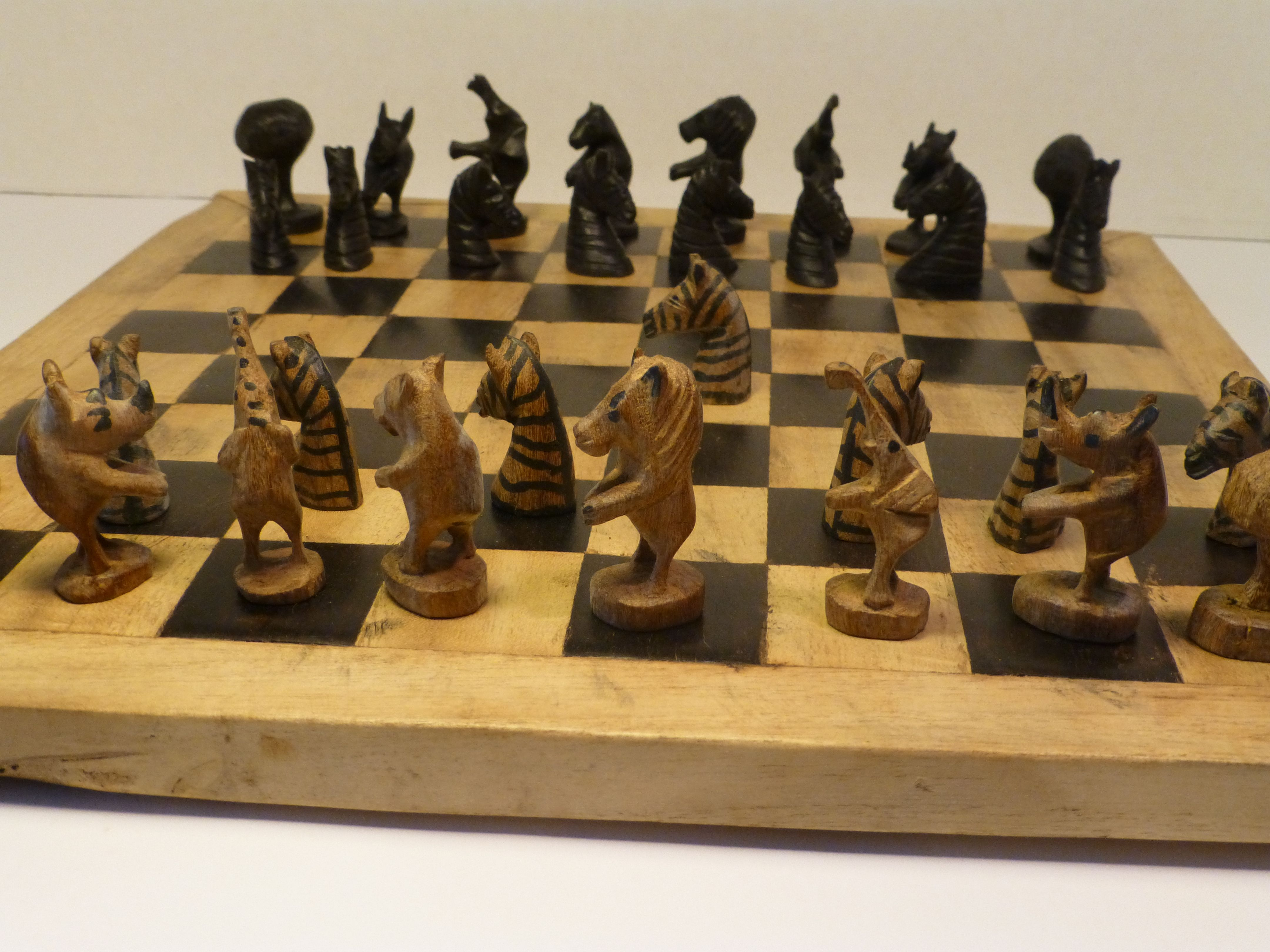 Unique Chess Sets African Wood Chess Set Malawi Tribe Collecting Chess