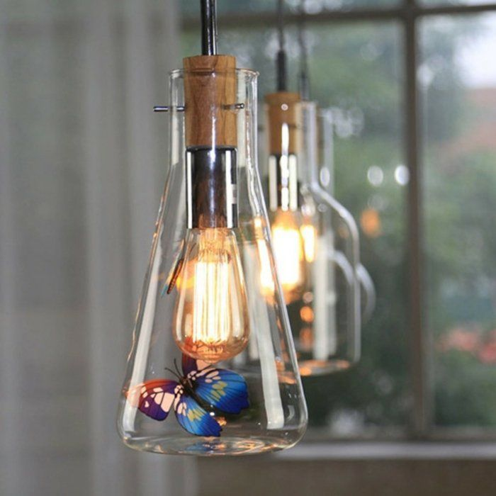 Simple DIY LAMPEN SELBER machen lampe diy lampenschirme selber machen labor Mehr