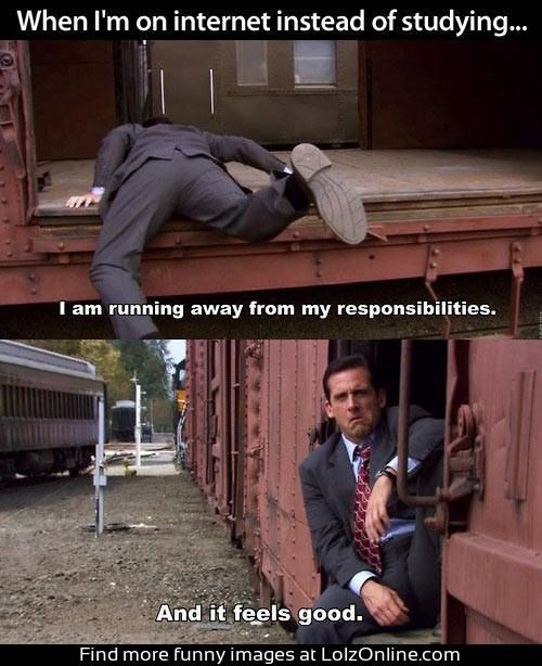 Michael Scott Running Away From Responsibilities Poster Office Quotes Office Humor The Office Show