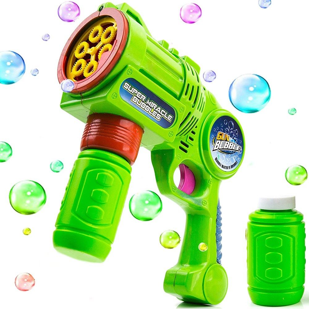 Smoke Bubble Gun Bubbles Maker Battery Powered Party Outdoor Magical Kids Fun