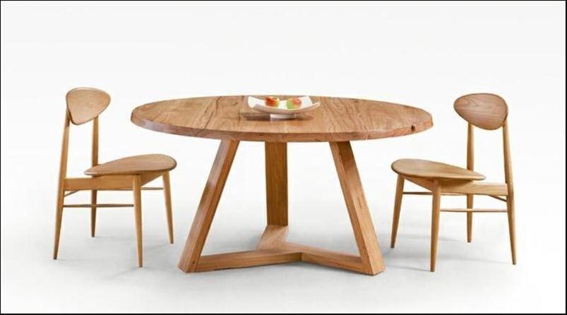 magnífico ideas de mesas redondas de madera para comedor | imágenes ...