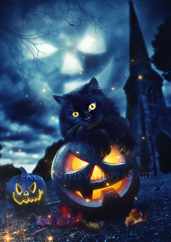 Halloween Wall Decor Halloween Print Halloween Artwork Black