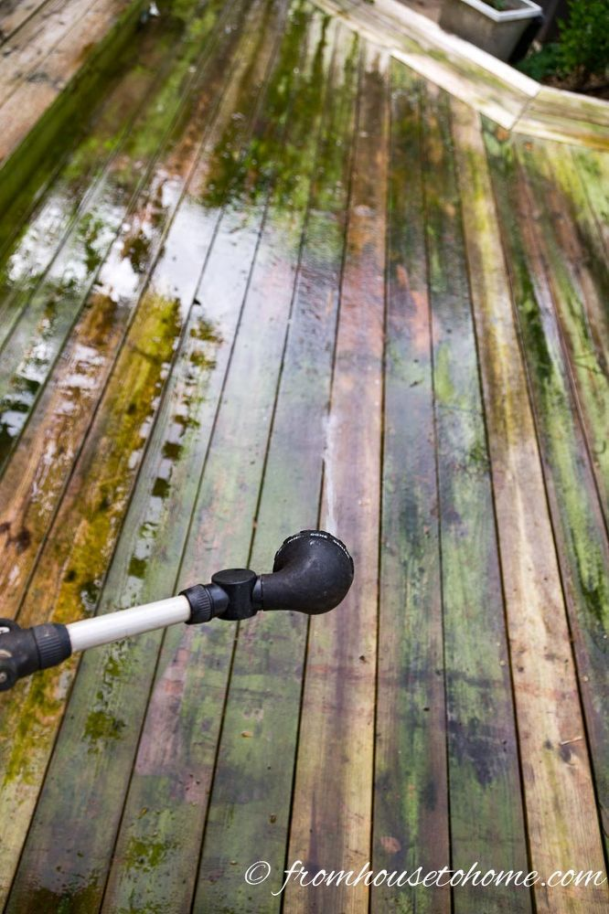The Best Inexpensive And Non Toxic Diy Deck Cleaner Cleaning
