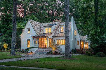 Crestline Residence Exterior Brick Is Painted Sherwin Williams Natural Choice Factory Pre Finished Gutters House Exterior Beautiful Homes House Styles