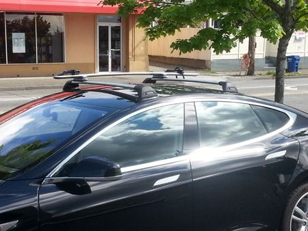 Tesla Model S With Custom Whispbar Bars Custom Car Racks