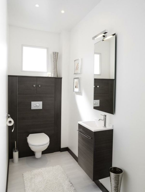 Le meuble wc toilet wc design and small toilet - Commode noir et blanc ...