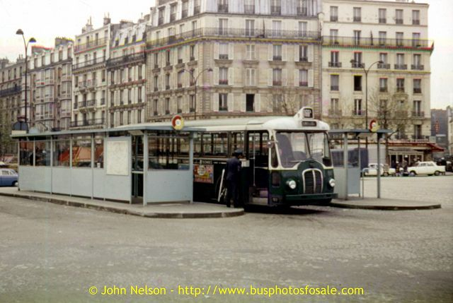 RATP: Seen possibly in the late 1960's is a Somua OP5/3 on route 166A. The location is Clignancourt.