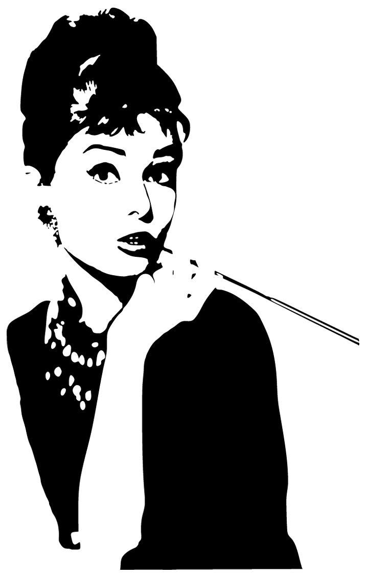 Черно белая открытка с актрисой
