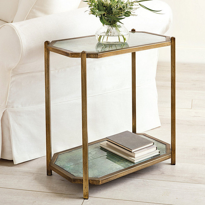 Kendall Rectangle Side Table Glass Side Tables Furniture